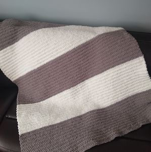 New Handmade Crocheted Afghan Blanket